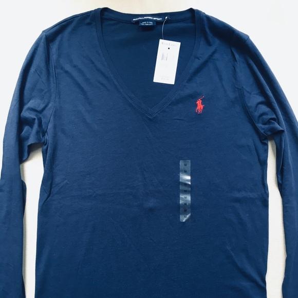 Women's v-neck long sleeve top
